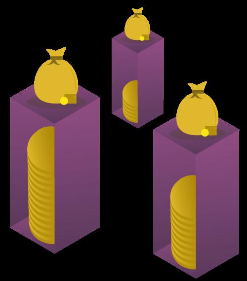 Illustration af penge