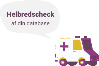 An ambulance illustration prompting to check your database health.